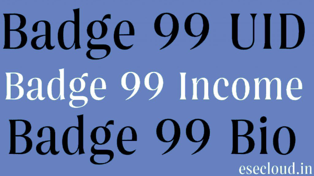 Badge 99 UID, Biography, Girlfreind, Facts, Shayri, Income